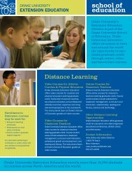 Distance Learning - Professional Development / Extension Education