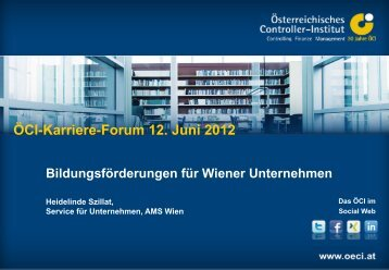 Bildungsförderung für Wiener Unternehmen - Controller Institut