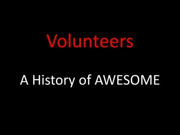 A History of AWESOME