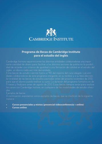 Programa de Becas de Cambridge Institute para el estudio ... - Alares