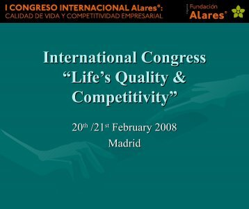 "International Congress ""Life's Quality & Competitivity"" - Alares"
