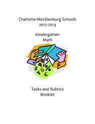 Charlotte-Mecklenburg Schools 2012-2013 ... - Elementary Math