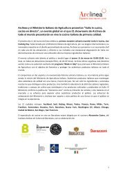 Dossier Italia in Cucina (PDF | 116.7 KB) - Cítric