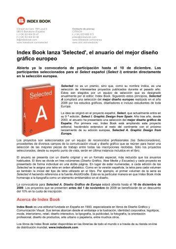 Index Book lanza 'Selected', el anuario del mejor diseño ... - Cítric