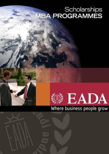 Scholarships for MBA PROGRAMMES - Eada