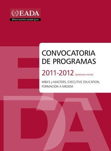 CONVOCATORIA DE PROGRAMAS - Eada