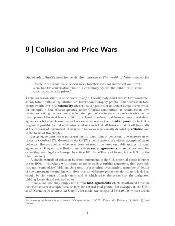 9 Collusion and Price Wars - Luiscabral.net