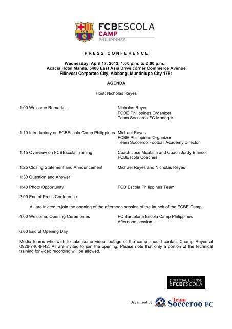 FCBEscola Camp Philippines - Press Conference - Download file