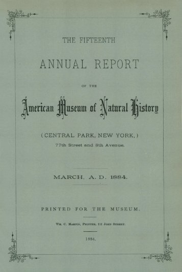 1884-1885 - American Museum of Natural History