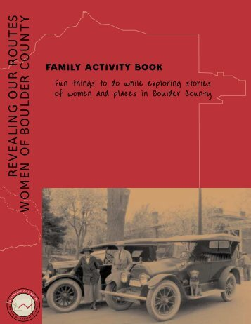 Family Activity Book - Boulder History Museum