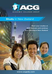 Study in New Zealand - The Academic Colleges Group