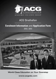 ACG Strathallan Application Form - The Academic Colleges Group