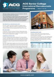 ACG Senior College - The Academic Colleges Group