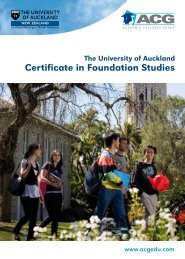 Certificate in Foundation Studies - The Academic Colleges Group