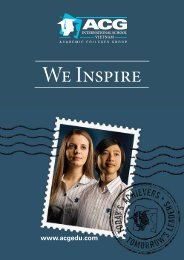 ACG International School Vietnam Prospectus - The Academic ...
