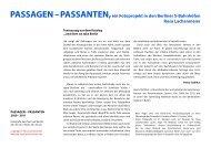 Rosa Lachenmeier, Passagen – Passanten, Fotografien