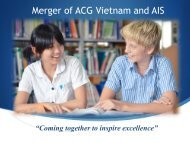 Merger of ACG Vietnam and AIS - The Academic Colleges Group