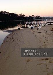 LAKES OIL N.L. ANNUAL REPORT 2014