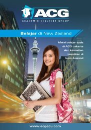 ACG Study in NZ Bahasa Indonesia - The Academic Colleges Group