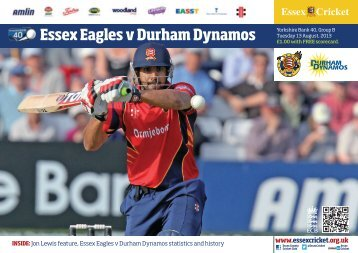 3.5 Yorkshire Bank 40 Match Guide - Essex Cricket