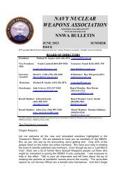 Summer 2013 (PDF File) - Navy Nuclear Weapons Association