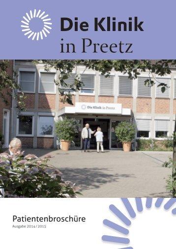 Die Klinik in Preetz – Patientenbroschüre 2014/2015