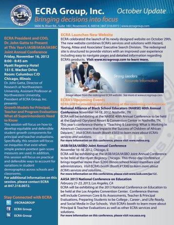 October 2012 - ECRA Group