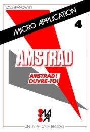 MICRO-APPLICATION 4 - AMSTRAD! OUVRE-TOI! - Amstrad.eu