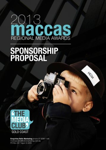 SPONSORSHIP PROPOSAL - The Media Club