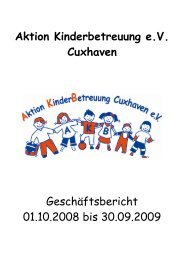 Geschäftsbericht 2009 - Aktion Kinderbetreuung