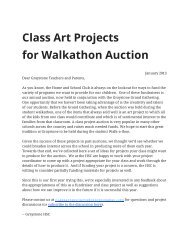 Class Project Ideas and Information Packet - Graystone Home ...