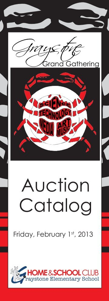 auction catalog cover - Graystone Home & School Club