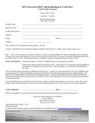 Spring Boutique Craft and Goods Vendor Contract - Graystone ...