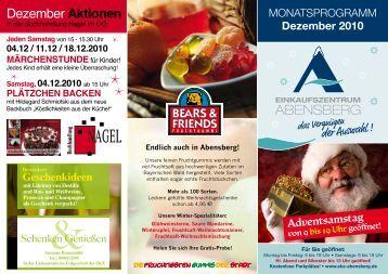 Dezember Aktionen - Einkaufszentrum Abensberg