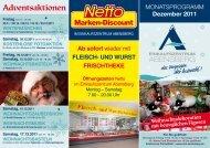 Adventsaktionen - Einkaufszentrum Abensberg