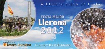 PROGRAMA FESTA MAJOR DE LLERONA 2012 (PDF, 1,5 Mb)