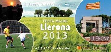PROGRAMA FESTA MAJOR DE LLERONA 2013 (PDF, 1,7 Mb)