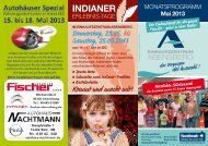 INDIANER - Einkaufszentrum Abensberg