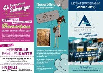 MONATSPROGRAMM - Einkaufszentrum Abensberg