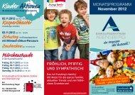 Kinder Aktionen - Einkaufszentrum Abensberg