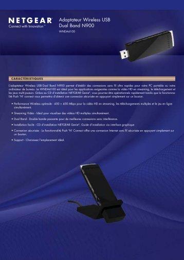 Adaptateur Wireless USB Dual Band N900 - Netgear