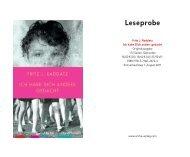 Leseprobe - Arche Verlag