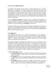 les antibiotiques - BiOutils - Université de Genève