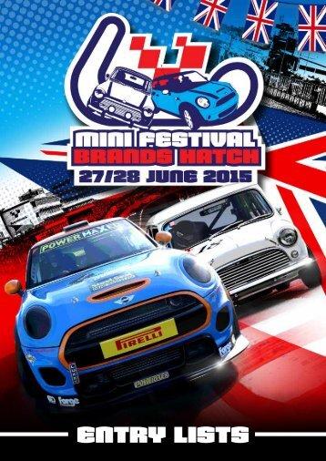 Mini Festival Entry List