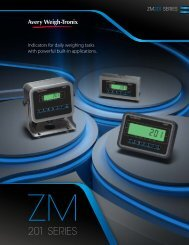 ZM201 Indicator Literature - Avery Weigh-Tronix