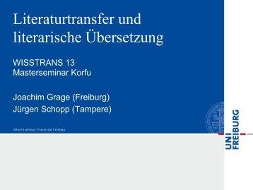 Joachim Grage: Kultur- und literaturwissenschaftliche ... - Lugos