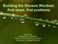 Building the Slovene Wordnet: first steps, first problems - Lugos