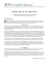 Living Life as an Associate - Dennis Coyne Coaching and Consulting