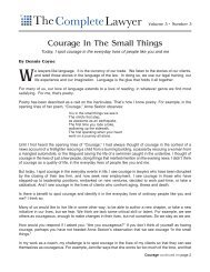 Courage In The Small Things - Dennis Coyne Coaching and ...