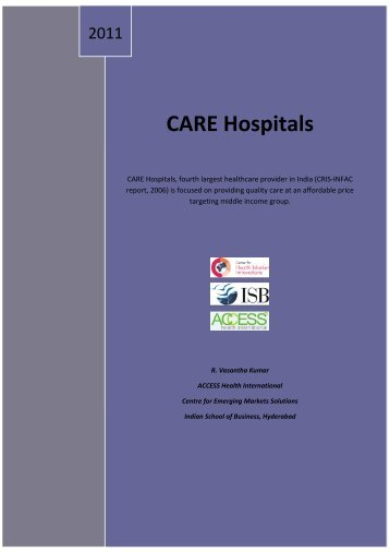 CARE Hospitals - The Center for Health Market Innovations
